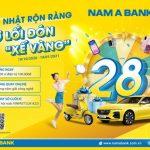 Rước xế vàng cùng ngàn ưu đãi mừng sinh nhật Nam A Bank