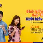 Ưu đãi lên đến 40% dành riêng cho sinh viên khi nạp tiền điện thoại qua EBank SHB