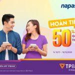 Hoàn tiền ngay 50% khi nạp tiền điện thoại trên App TPBank