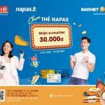 Chạm thẻ BaoViet Bank nhận e-voucher 30.000 VNĐ