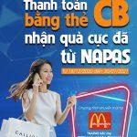 Thanh toán bằng thẻ CB nhận quà cực đã từ Napas