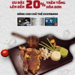 Siêu ưu đãi lên đến 20% dành cho chủ thẻ Eximbank khi đến Fumo Steak