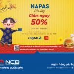 Mua sắm liền tay giảm ngay 50% cùng thẻ ghi nợ nội địa NCB