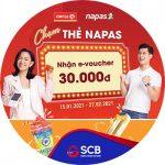 Chạm thẻ Napas, nhận e-voucher 30.000 VND cùng SCB