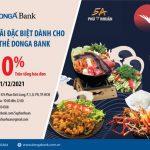 Giảm giá từ 10% trên hóa đơn khi sử dụng dịch vụ tại Nhà Hàng 5A Phú Nhuận dành cho chủ thẻ DongA Bank