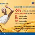 Giảm giá thêm tối đa 15% trên hóa đơn khi mua sản phẩm tại Fashion & Freedom dành cho chủ thẻ DongA Bank