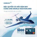 Đặc quyền ưu đãi dặm bay cùng Eximbank One World MasterCard