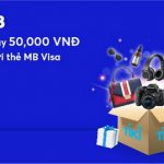Giảm ngay đến 50.000 VNĐ tại Tiki cho chủ thẻ MB Visa