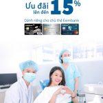 Ưu đãi 15% dành riêng cho chủ thẻ Eximbank tại Nha khoa Kim