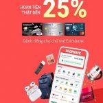 Siêu ưu đãi hoàn tiền lên đến 25% tại ShopBack cho chủ thẻ Eximbank