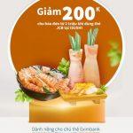 Giảm 200K cho hóa đơn từ 2 triệu khi dùng thẻ JCB Eximbank tại Nhà hàng iSushi