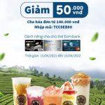 Tặng voucher 50.000 VNĐ dành riêng cho khách hàng của Eximbank tại Trà sữa ToCoToCo