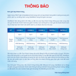 Thông báo sử dụng gói tài khoản Combo của VietABank