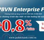 Lãi suất gửi tiết kiệm hấp dẫn cho tài khoản doanh nghiệp của Public Bank Vietnam